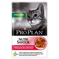 Purina Pro Plan Sterilised Nutrisavour Cat GiG Duck 85г